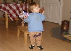 der ersten Schokoladenweihnachtsmann