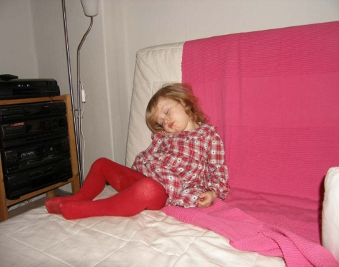 im Sitzen schlafen geht auch