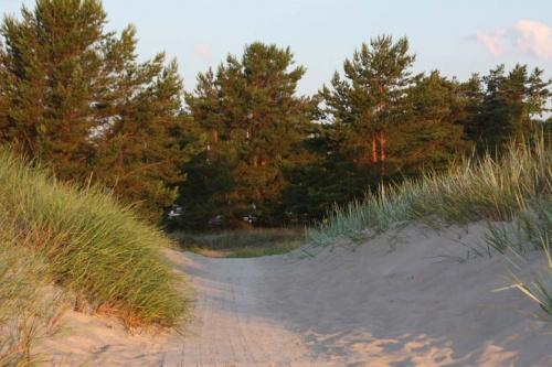 unser Weg vom Strand zum Zeltplatz