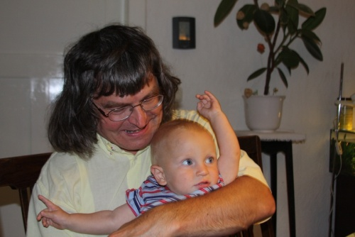 Opi und Enkel