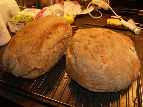 Brot gebracken