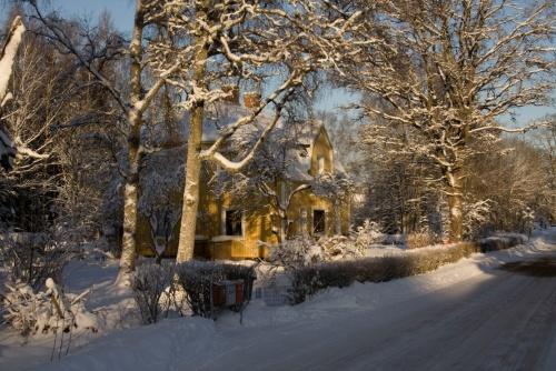 unser Haus im Schnee