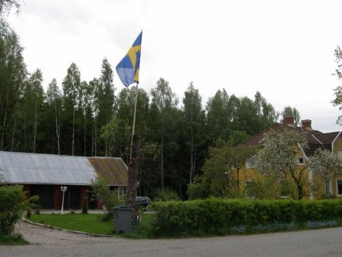 Flagge hoch zum freudigen Ereignis