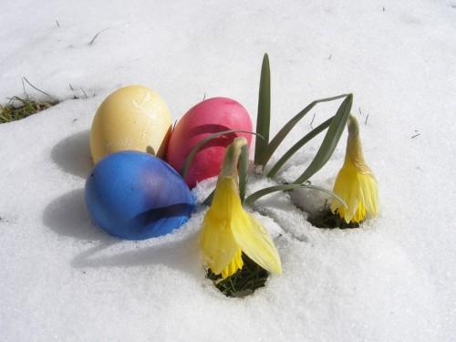 Ostern mit Schnee