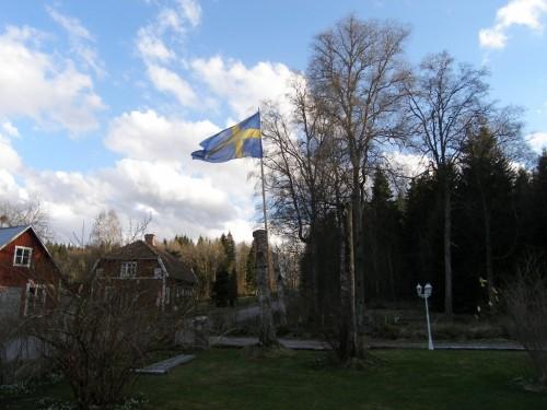 die Flagge ist gehisst