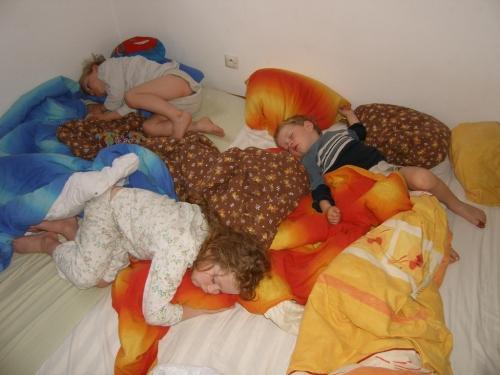 morgendliches Schlafdurcheinander
