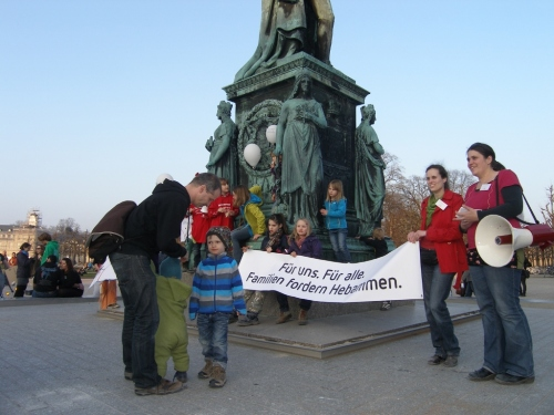 Hebammen-Demo Karlsruhe