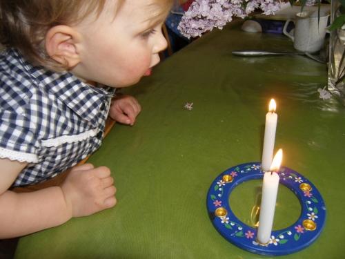 das Beste waren die Kerzen