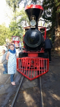Dampflok im Schlosspark